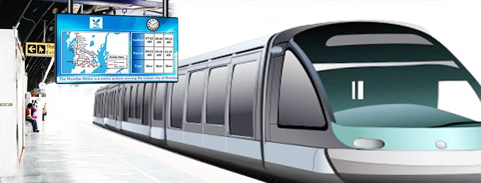 Digital signage for trains and metro