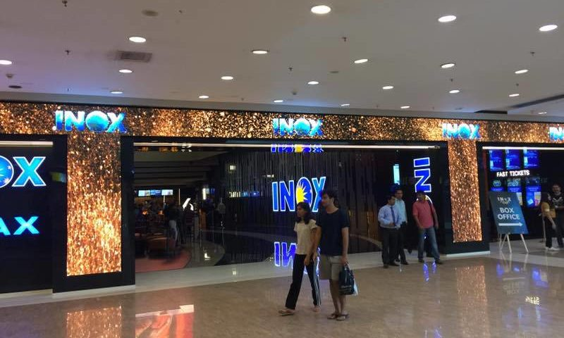Indoor LED display at the INOX theatre Entrance