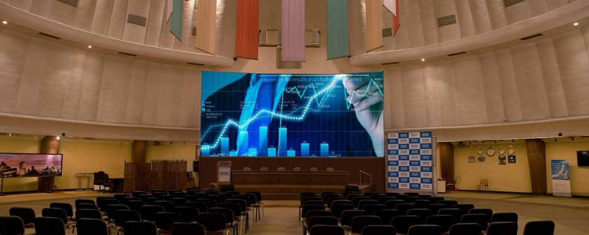 Curved LED Display for Bombay Stock Exchange Convention Hall, Mumbai - Xtreme Media