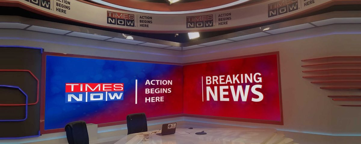 L-Shape LED Display for Times Now Group, Mumbai - Xtreme Media
