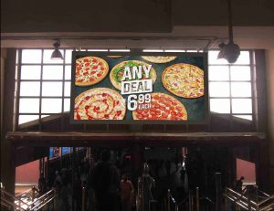 F&B promotions on Outdoor Digital Signage