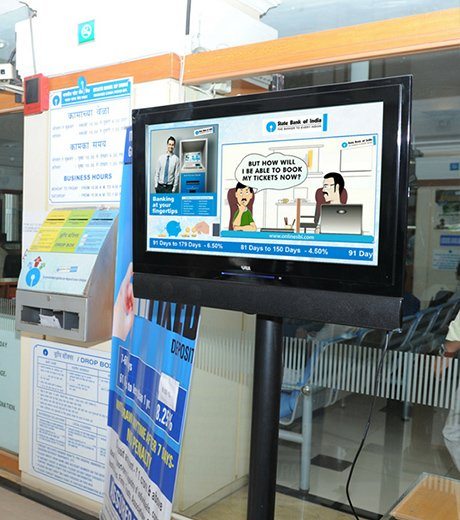 LED display at SBI banks
