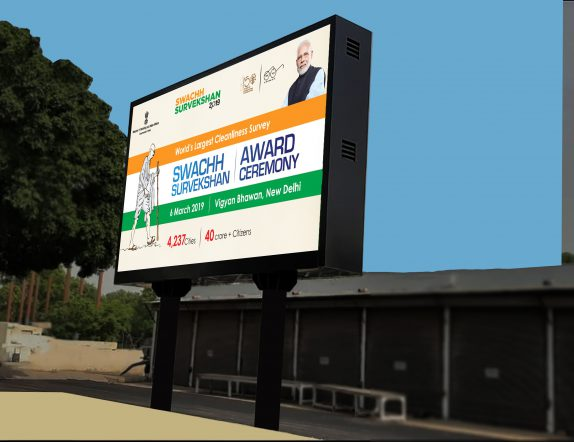Outdoor LED Display Commissioned for Rashtrapati Bhavan to convey Government Schemes and Notices