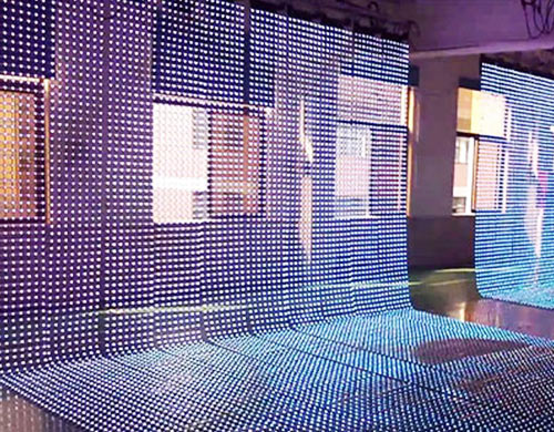 LED curtain and mesh