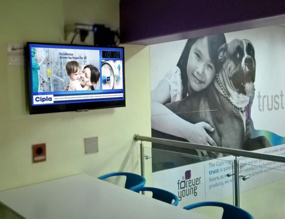 Corporate communication made easy at Cipla using Xtreme Media Digital Signage
