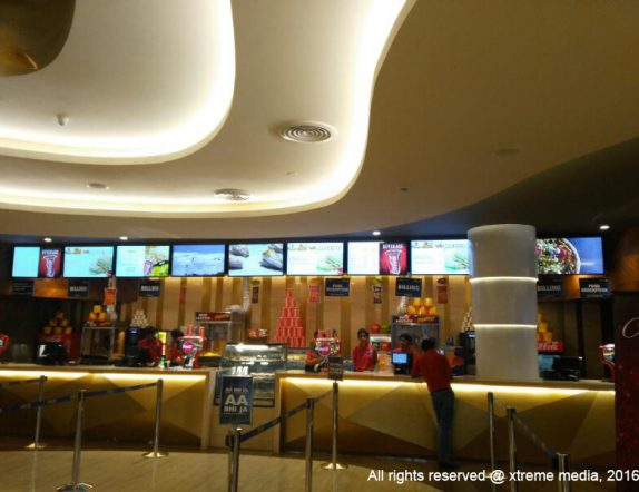 Digital Menuboard for Cafeteria at Inox theatres acorss India
