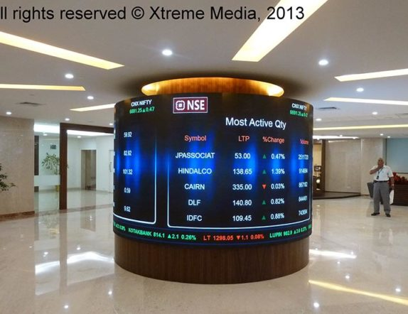 Indoor Cylindrical Screen for NSE Mumbai 02