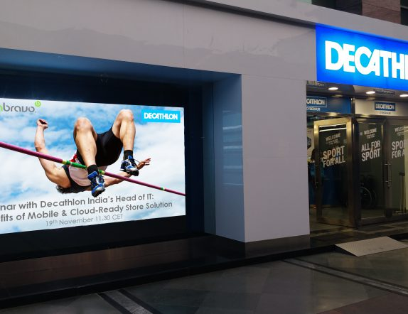Indoor LED Videowall display for Brading for Decathalon
