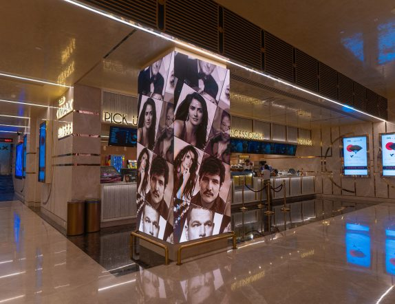 L Shaped Customised LED Installation at PVR High street Phoenix