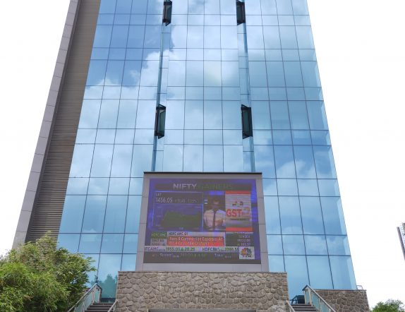 LED TIcker and LED Display to convey stock information Installed by Marwadi Group