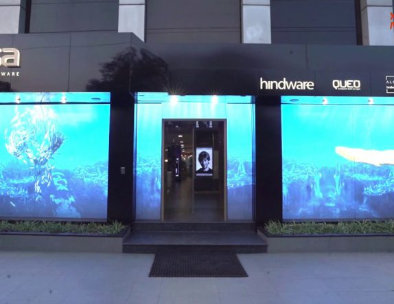 LED Videowall Installation at a Facade for Hindware