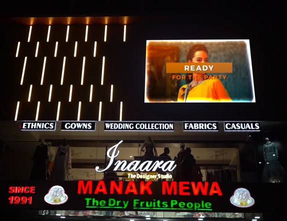 Outdoor LED Display for Brading application for Innama Collection