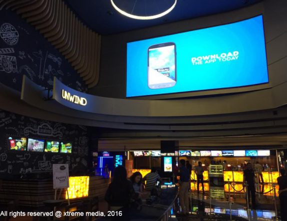 Vibrant LED Display at INOX Ricty mall fortheit Lobby